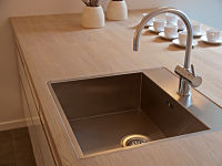 Undermount sink with mixer tap