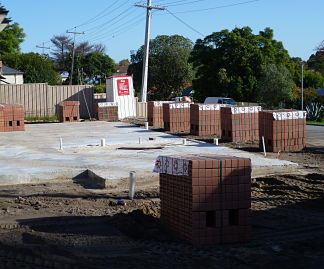 Slab down, bricks delivered