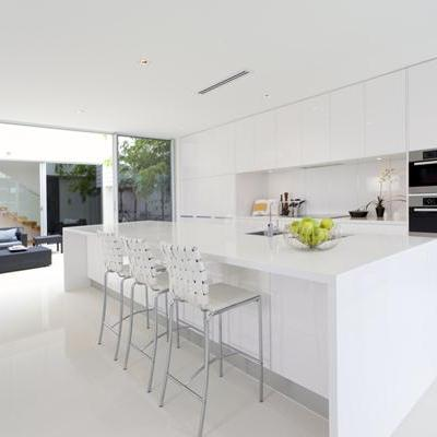 White Minimalist Kitchen Perth