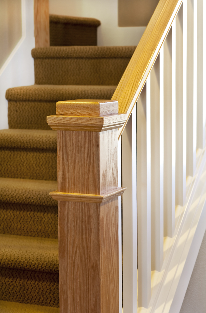 Timber Balusters with carpet treads